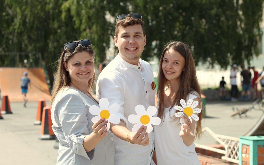 Акция в День семьи, любви и верности прошла в Краевом дворце молодежи