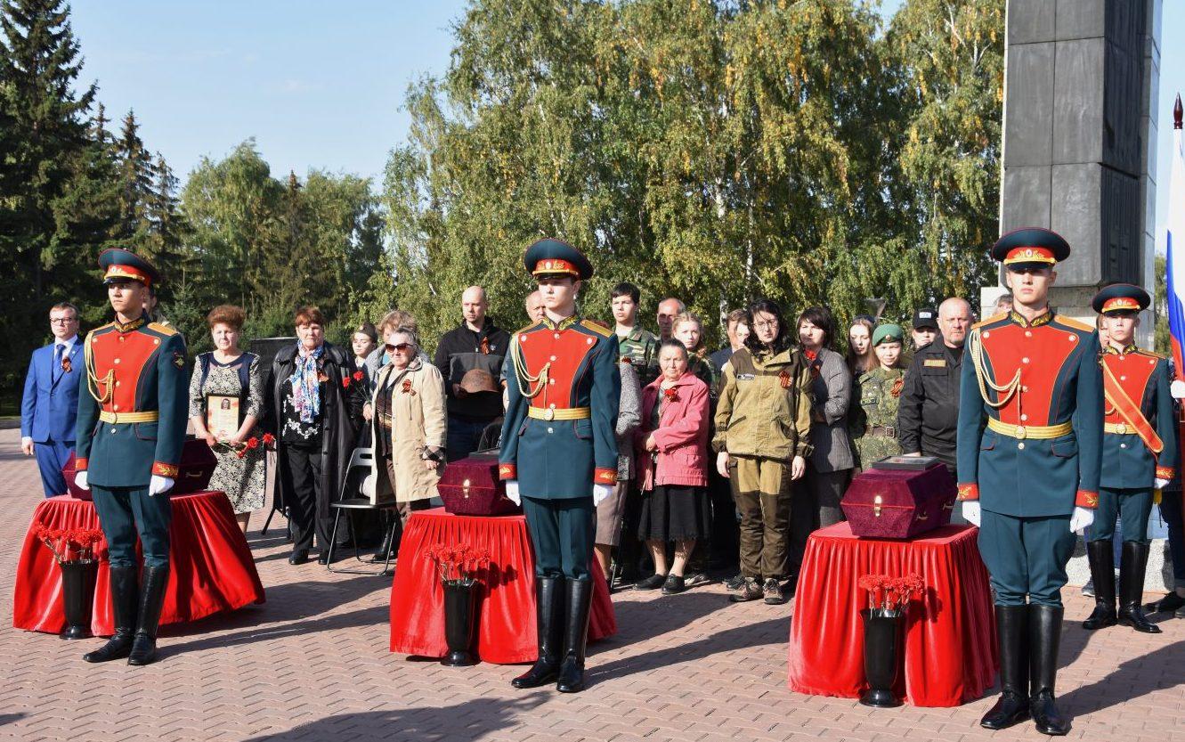 На свою малую родину вернулись три красноармейца, погибшие в годы Великой Отечественной войны