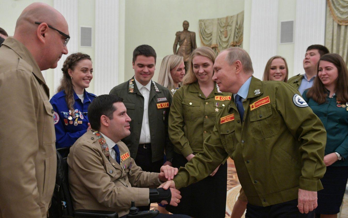 Представитель стройотрядовского движения Алтайского края принял участие во встрече с Президентом России