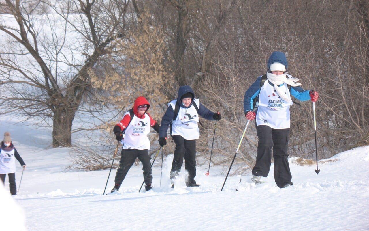 Алтайские поисковики участвуют в лыжном переходе, посвящённом памяти сибирских красноармейцев, погибших в боях за Севск